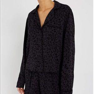 rails cheetah print pajama set